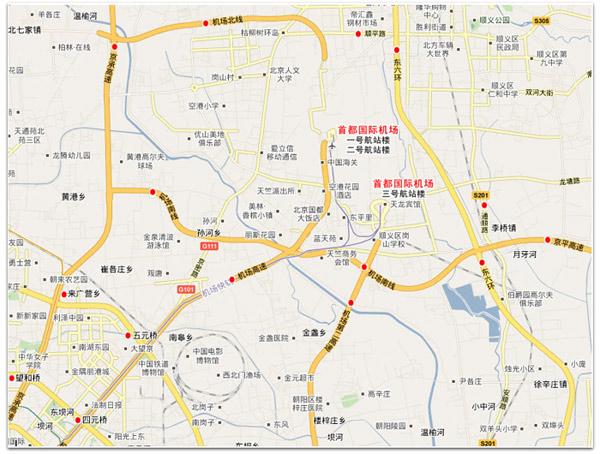 机场周边地图