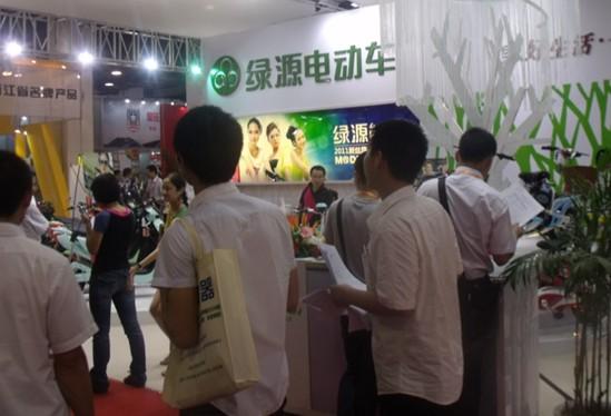 参加2011杭州电动车自行车展览会