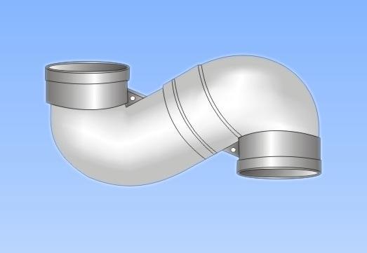 产品名称 供应 PVC U排水管件系列 90度弯头 -供应 PVC U排水管件系