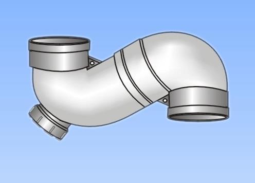 产品名称 供应 PVC U排水管件系列 S存水弯 带检查口 -供应 PVC U排