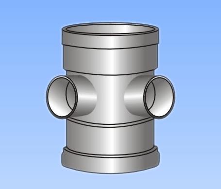 产品名称 PVC U排水管件系列 直角四通 异径立体四通 -PVC U排水管