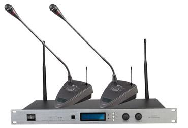 UHF红外无线会议二通道麦克风(BU-3820)