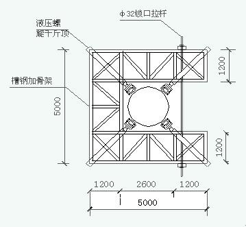 直线钢管塔头示意图