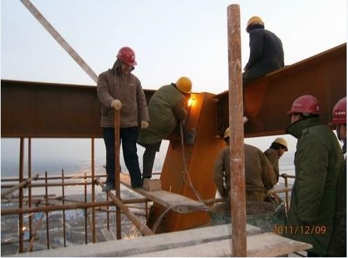 咸阳机场新建塔台项目进入整体结构封顶阶段