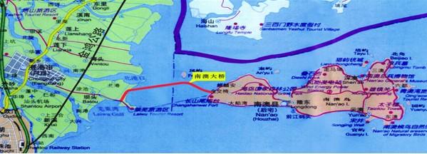 广东省南澳大桥工程,起点位于汕头市澄海区莱芜