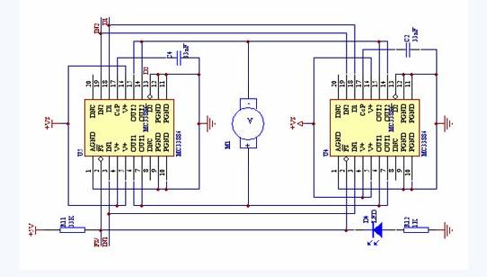 电机驱动芯片mc33886在智能车上的应用