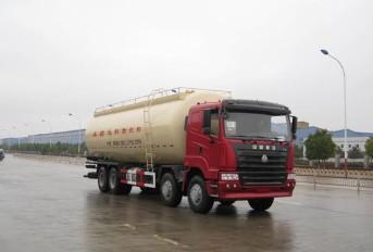 重汽8×4粉粒物料运输车