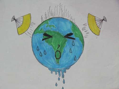 主题是 珍惜地球资源 高清图片