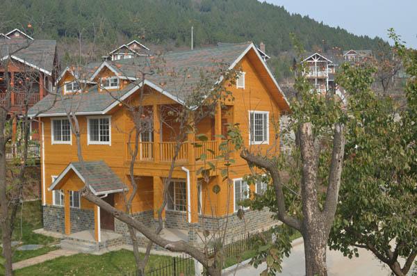 木结构别墅,木结构房屋