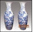 手绘大花瓶,手工雕刻陶瓷大花瓶