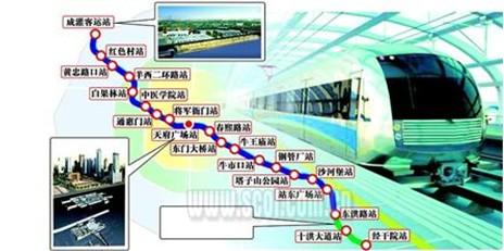 成都地铁2号线路图图片