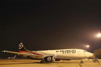 此架飞机是顺丰机队的首架波音737-400飞机