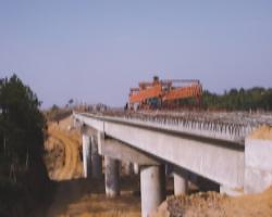 建设中的大广北高速公路任家冲大桥