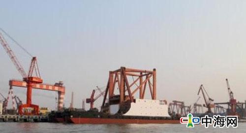 """国内最大海上风电安装船""""华尔辰""""号建造完工"""