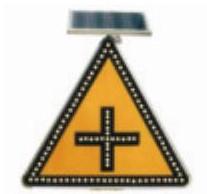 太阳能十字交叉标志
