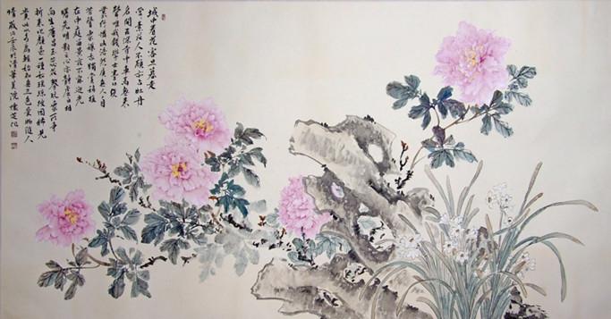 艺术品简介: 唯有牡丹真国色,花开时节动京城,牡丹国色天香,雍容华贵,乃花中之王也。古往今来,多少文人墨客、达官贵族无不为之舞文弄墨、尽情抒怀;多少画家沉醉其中,画其倾国倾城之姿,表其富贵吉祥之意。自古以来,以牡丹为题材的画作可谓是层出不穷,但是人们对牡丹作品的喜爱之情始终不减,优秀的牡丹作品,是必定会独占春日的,不是鲜花,胜似鲜花,天姿国色,楚楚动人。