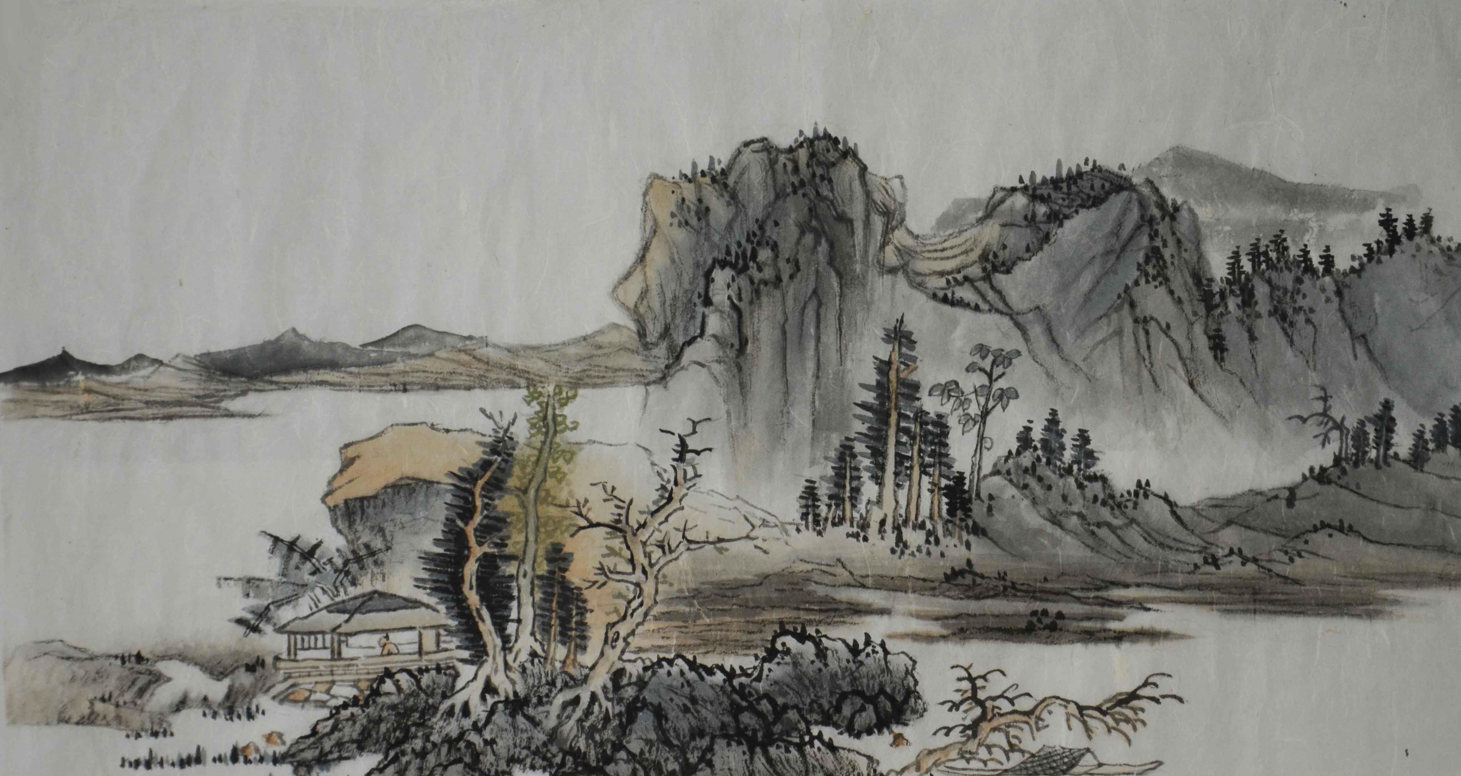 中国国画山水画国画山水 小品