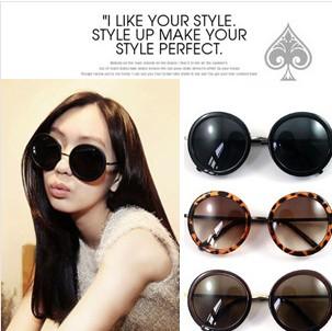 韩国vintage墨镜 大圆形眼镜太子镜
