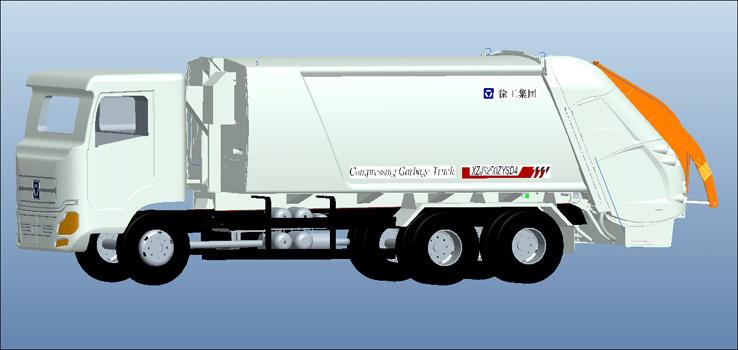 ysh12a后装压缩式垃圾车