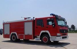 豪泺7T水罐、泡沫消防车