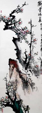 《铁骨迎春》 国画花鸟