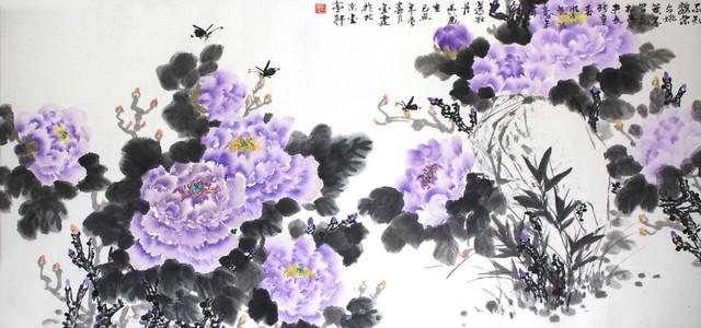 《不知魏紫与姚黄,墨写花枝兴未长》 国画花鸟