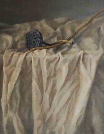 《一品青蓮》 靜物油畫