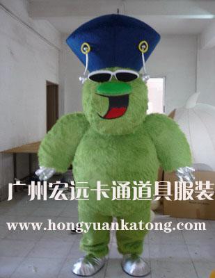 供应卡通服装动物模型绿毛怪