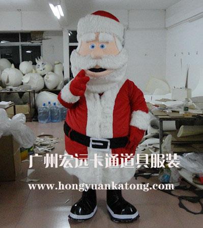 供应圣诞节表演服装行走人偶可动人偶圣诞老人