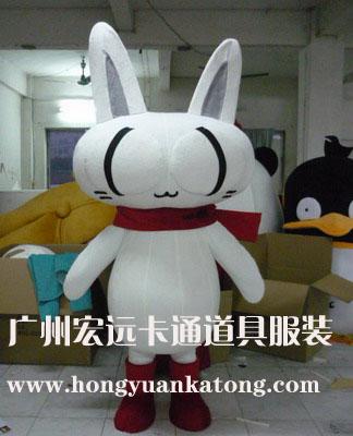 供应卡通人偶可动人偶动物模型白猫