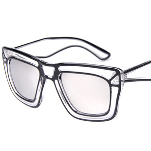 透明素描大框太阳镜情侣时尚墨镜潮流眼镜77261明星