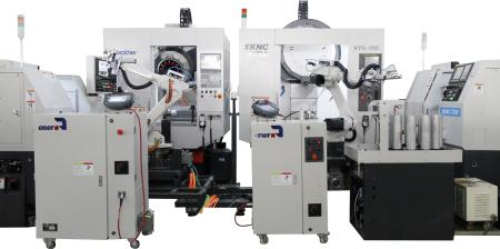 2台机器人与加工中心/机床联线