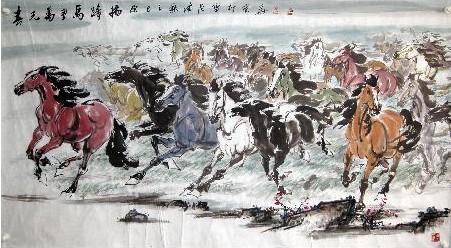 为中国近现代书画部分;之前为古代图片