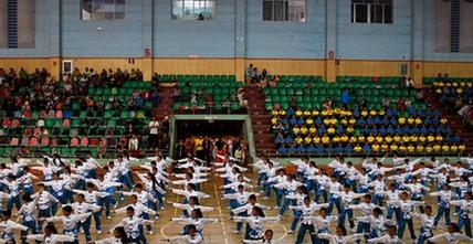 个旧市七彩云南青少年武术操比赛圆满结束