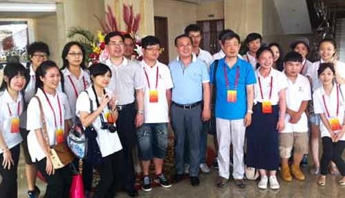 威海市委副书记赵熙殿会见了参加夏令营的台湾学生代