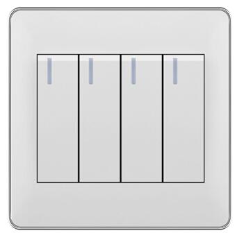 墙壁开关厂家定制节能双控墙壁开关浴室防水盖板四位