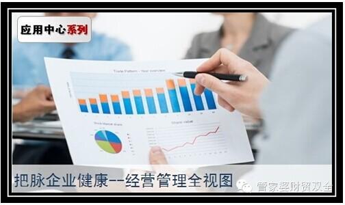 以图形化的方式展示企业经营指标