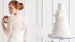 来自婚纱中的蛋糕灵感