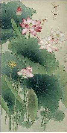 年中夏荷 吉庆有余 我的艺术网史红梅工笔花鸟