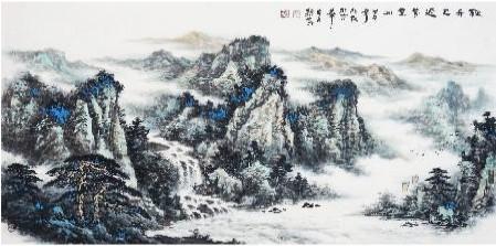 山巍水柔彰气韵 我的艺术网孙勤国画山水