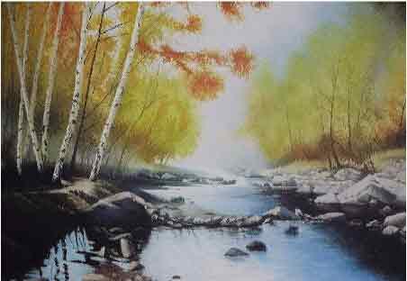 朝飞暮卷惜流芳 我的艺术网埃拉风景油画
