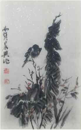 云起秋满赏雄姿 我的艺术网沈杰松国画山水