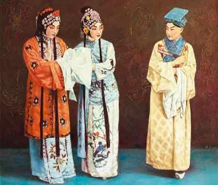 芳年华月把戏唱 我的艺术网刘晓第油画人物