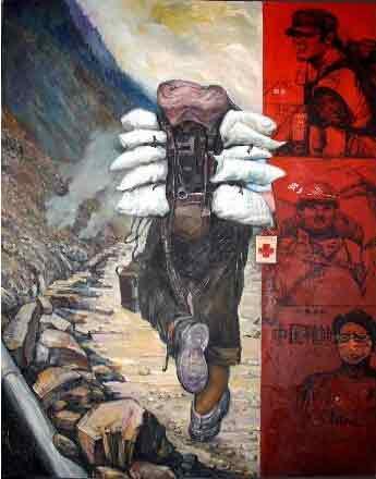 灵魂演绎人生哲理 我的艺术网刘维之抽象油画