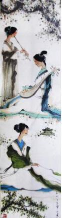 粉藻其姿弄瑶瑟 我的艺术网宁小勇写意人物