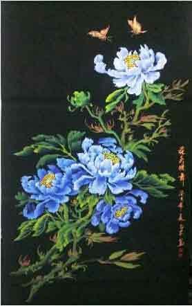蝶舞翩飞见弥陀 我的艺术网蔡正安国画牡丹