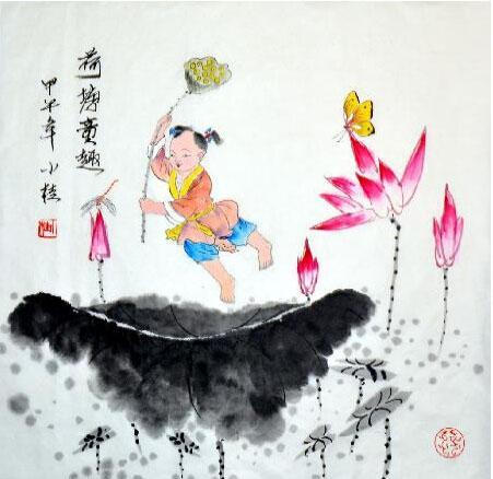 天真烂漫连童趣 我的艺术网张小桂国画