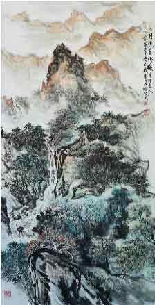 墨色抒写古风雅韵 我的艺术网黎越常国画山水