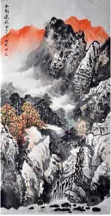 丹青绘就山川秀美 我的艺术网郑旭刚国画山水
