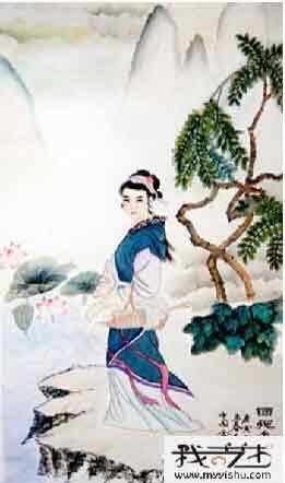 仙姿玉色比花娇 我的艺术网王春先国画人物